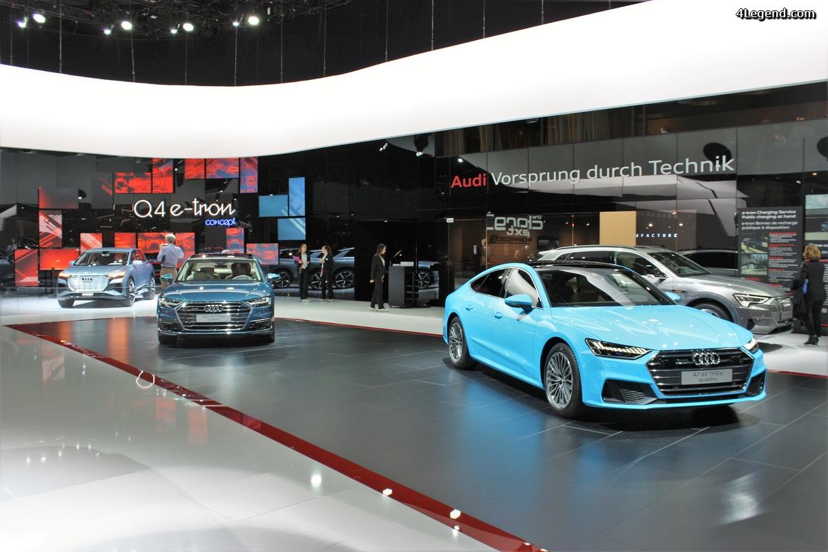 Genève 2019 - les évolutions du stand Audi