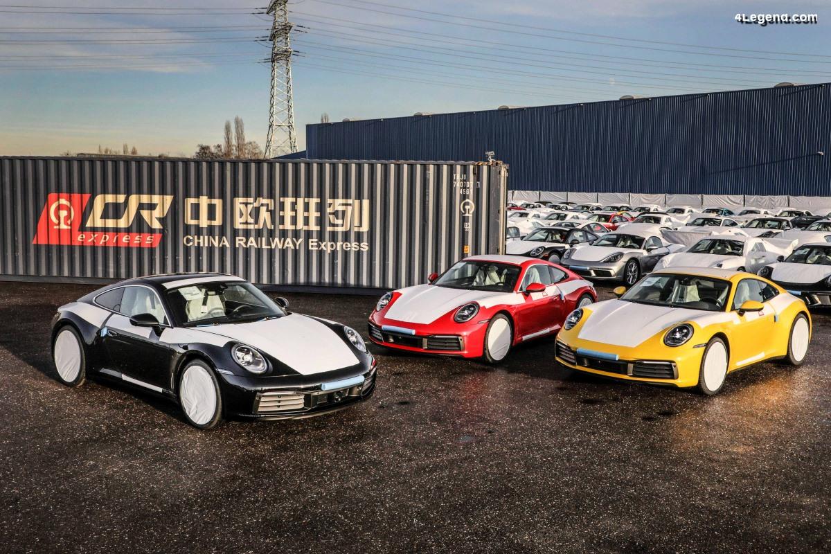 Livraison des modèles Porsche en Chine par train