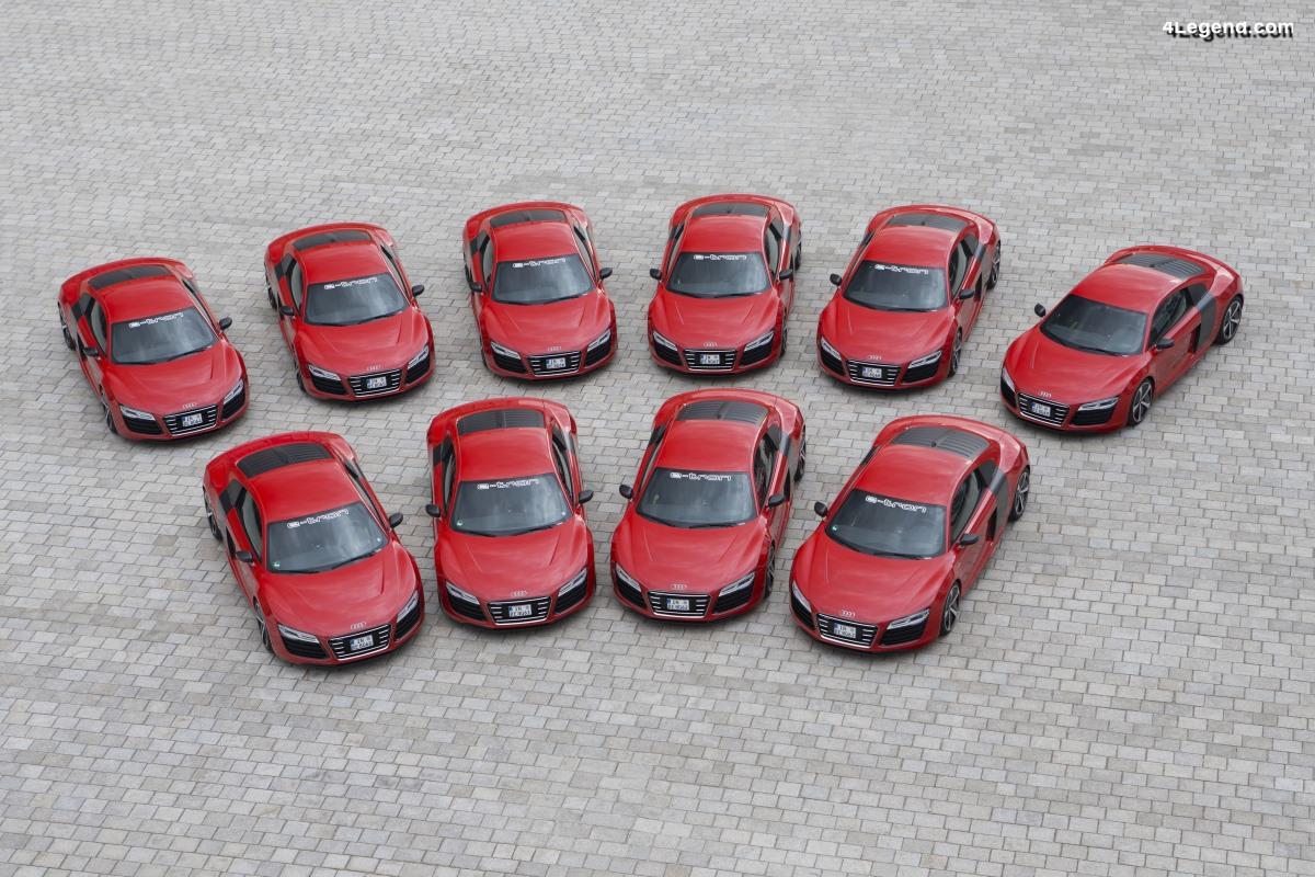 10 Audi R8 e-tron produites en 2012 et 2013 - aucune n'a été vendue