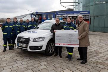 Audi soutient le THW avec 20 000 euros