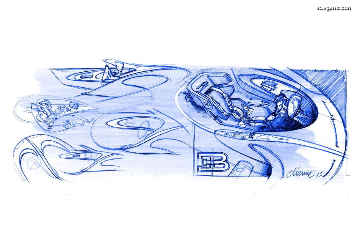Design intérieur de la Bugatti Chiron - Réduction à l'essentiel