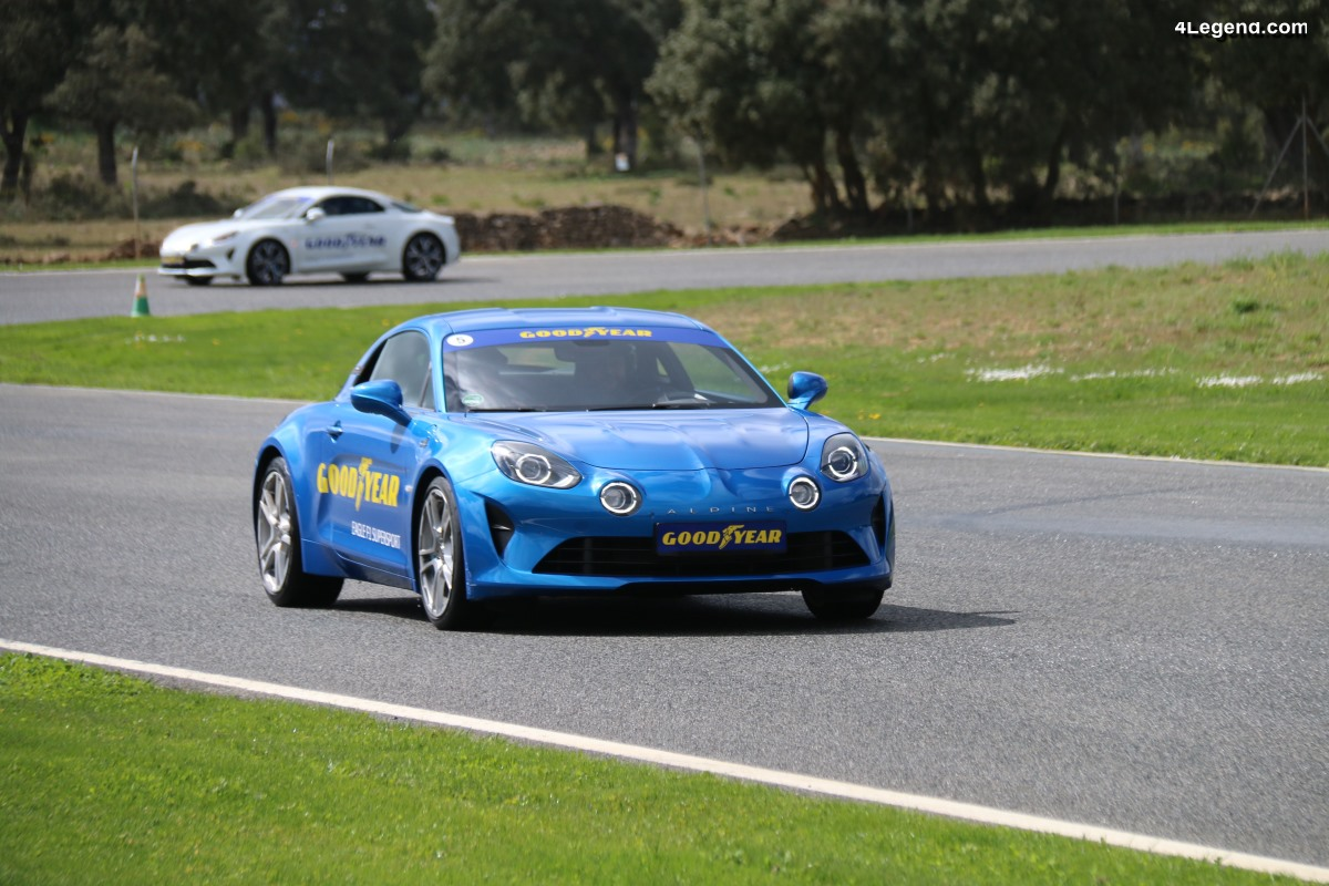 Essai du pneu Goodyear Eagle F1 SuperSport avec une Alpine A110