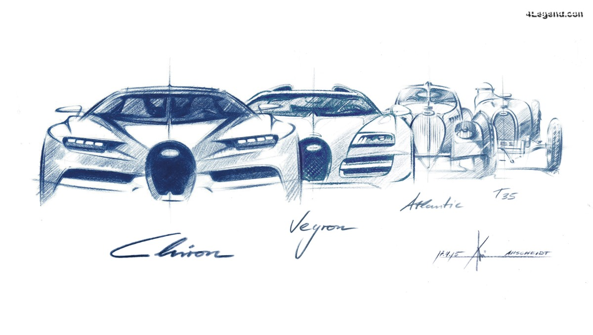 Le design de Bugatti - entre la légende de l'œuf et celle du fer à cheval