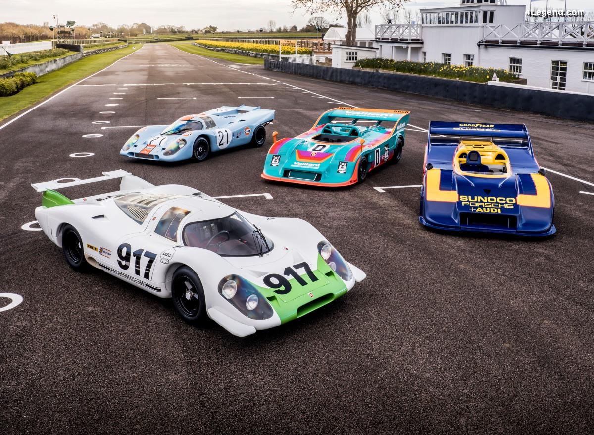 Porsche réunit quatre 917 spéciales pour ses 50 ans à Goodwood