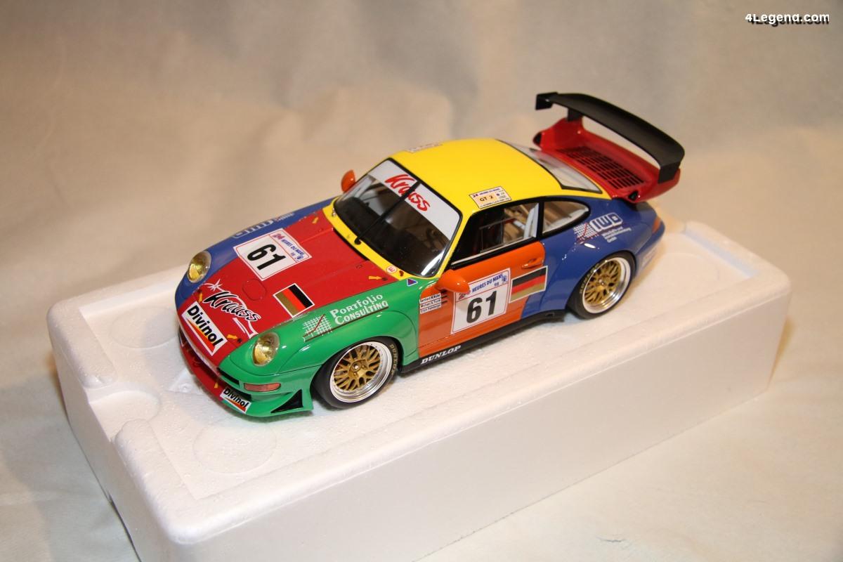 Miniature Porsche 911 GT2 #61 24 Heures du Mans 1998 au 1/18 - GT Spirit