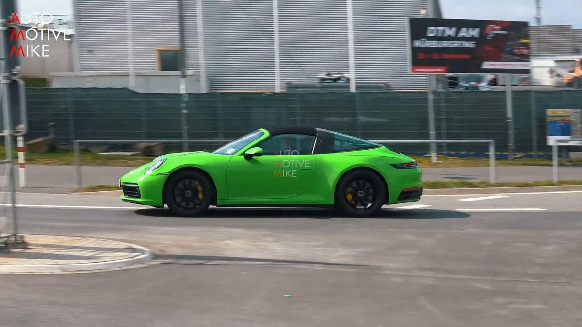 Spyshots - La nouvelle Porsche 911 Targa type 992 testée au Nürburgring