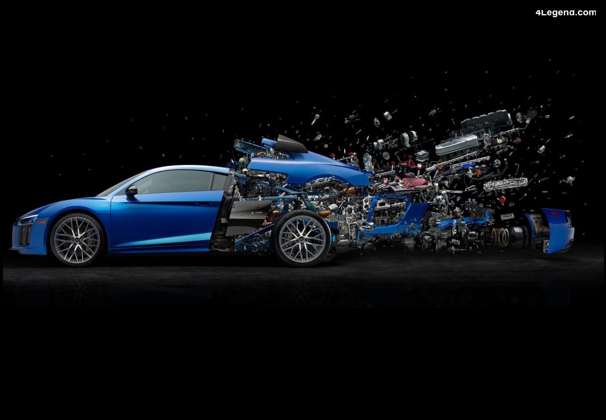 Audi R8 Disintegration - Explosion artistique d'une Audi R8 V10