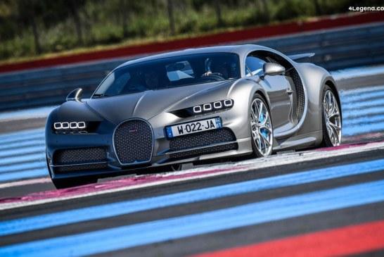 Tests des Bugatti Chiron et Chiron Sport sur le circuit Paul Ricard