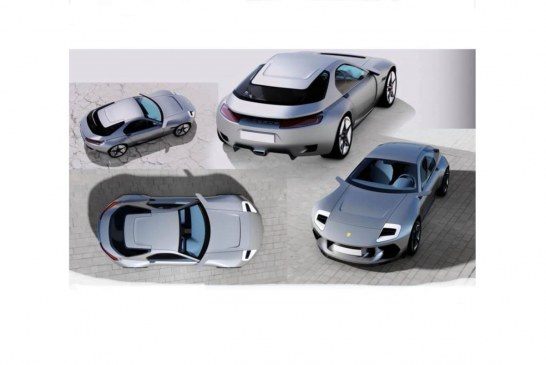 Vision d'un revival de la Porsche 928