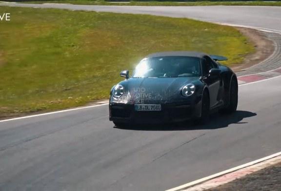 Spyshots Porsche 911 Turbo S Cabriolet type 992