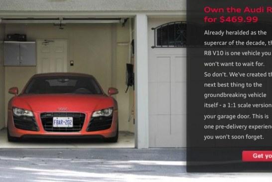 Devenez propriétaire d'une Audi R8 V10 pour $469,99