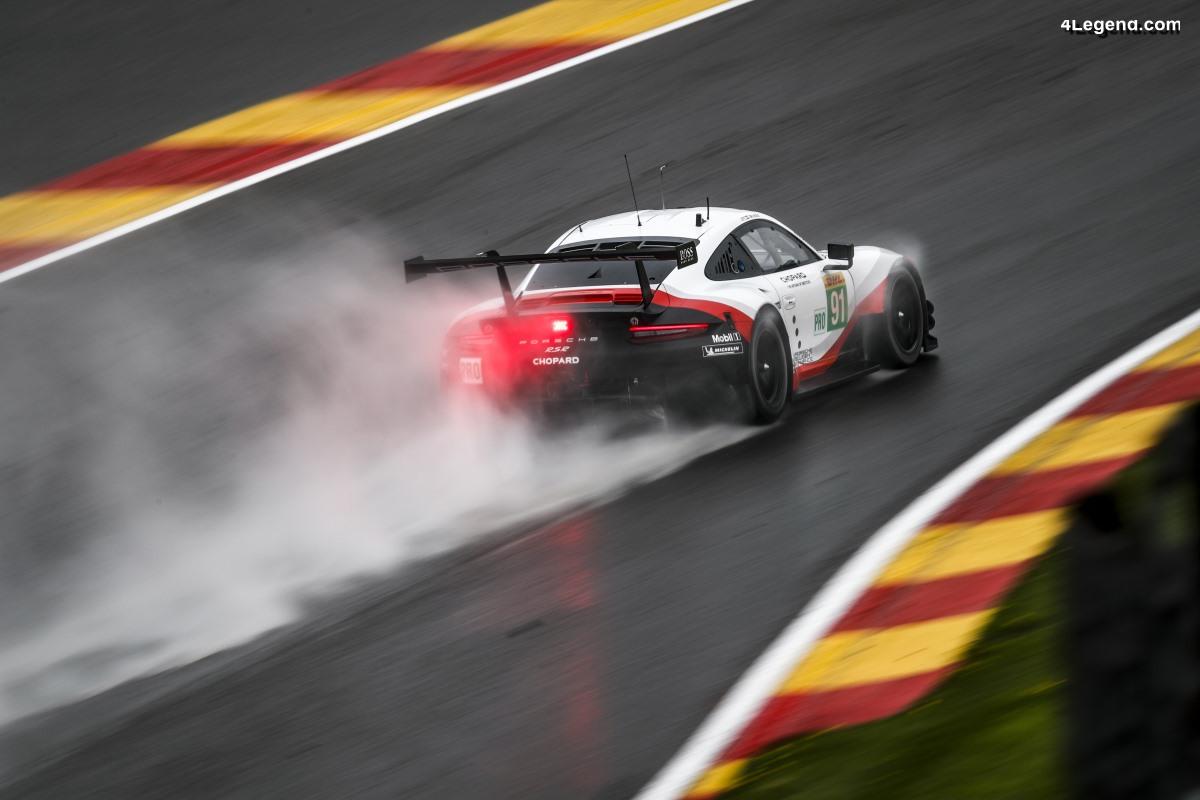 WEC - Porsche sur la 4ème rangée de la grille à Spa-Francorchamps