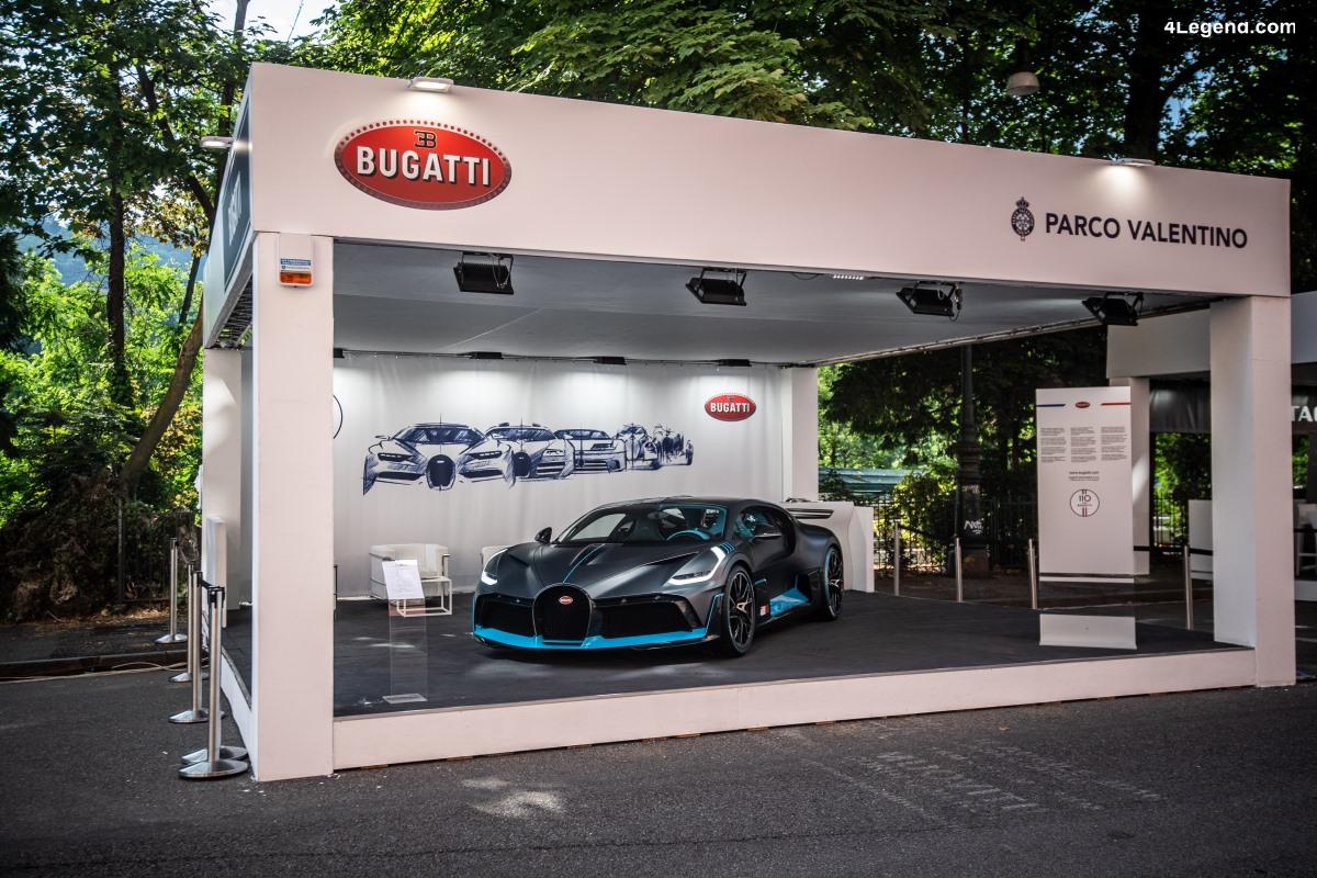 Bugatti dans l'une des capitale italienne de l'automobile
