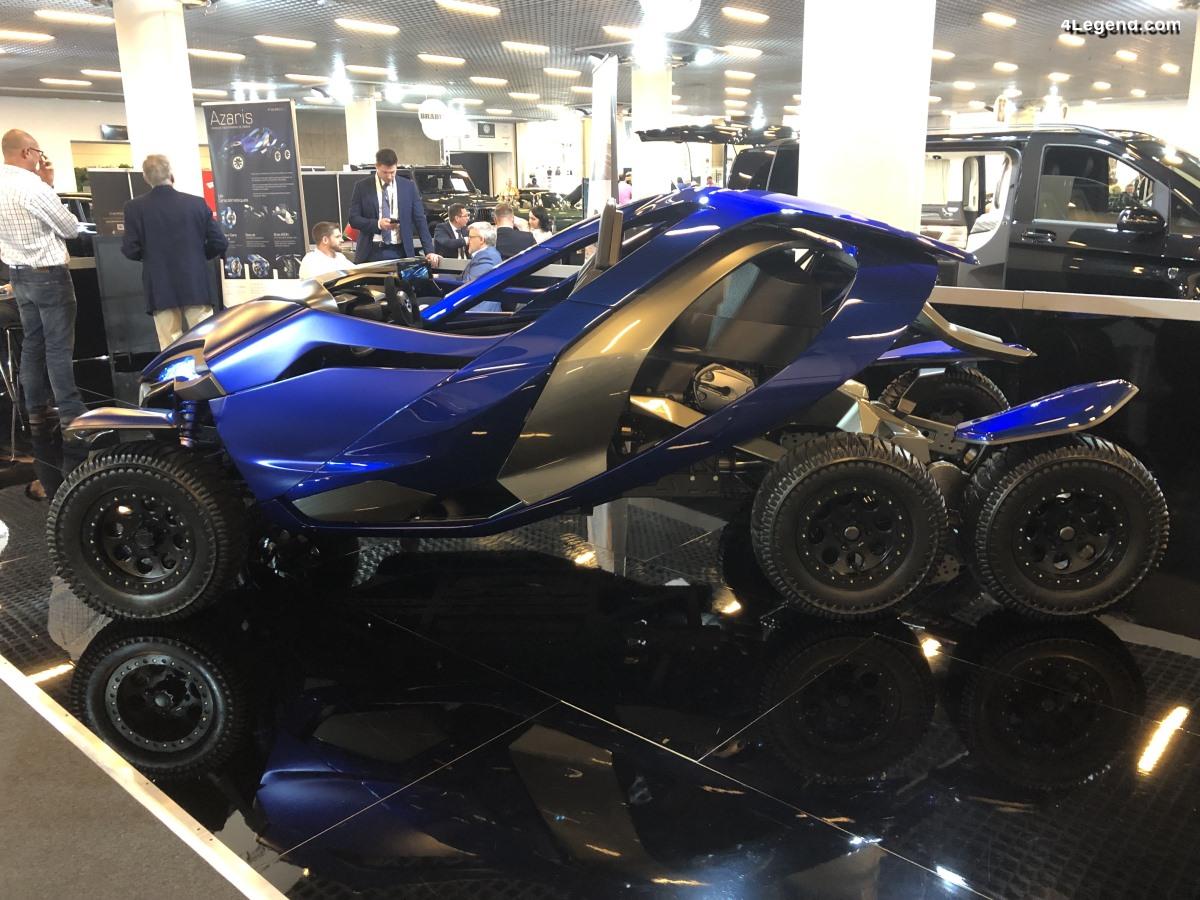 Top Marques - Ferox Azaris : un tout-terrain à 6 roues et 4 moteurs