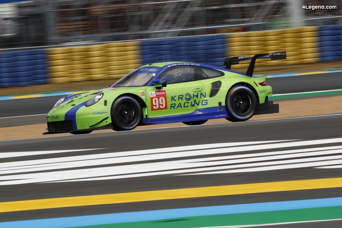 24H Mans 2019 - Abandon de la Porsche 911 RSR n°99 aux essais