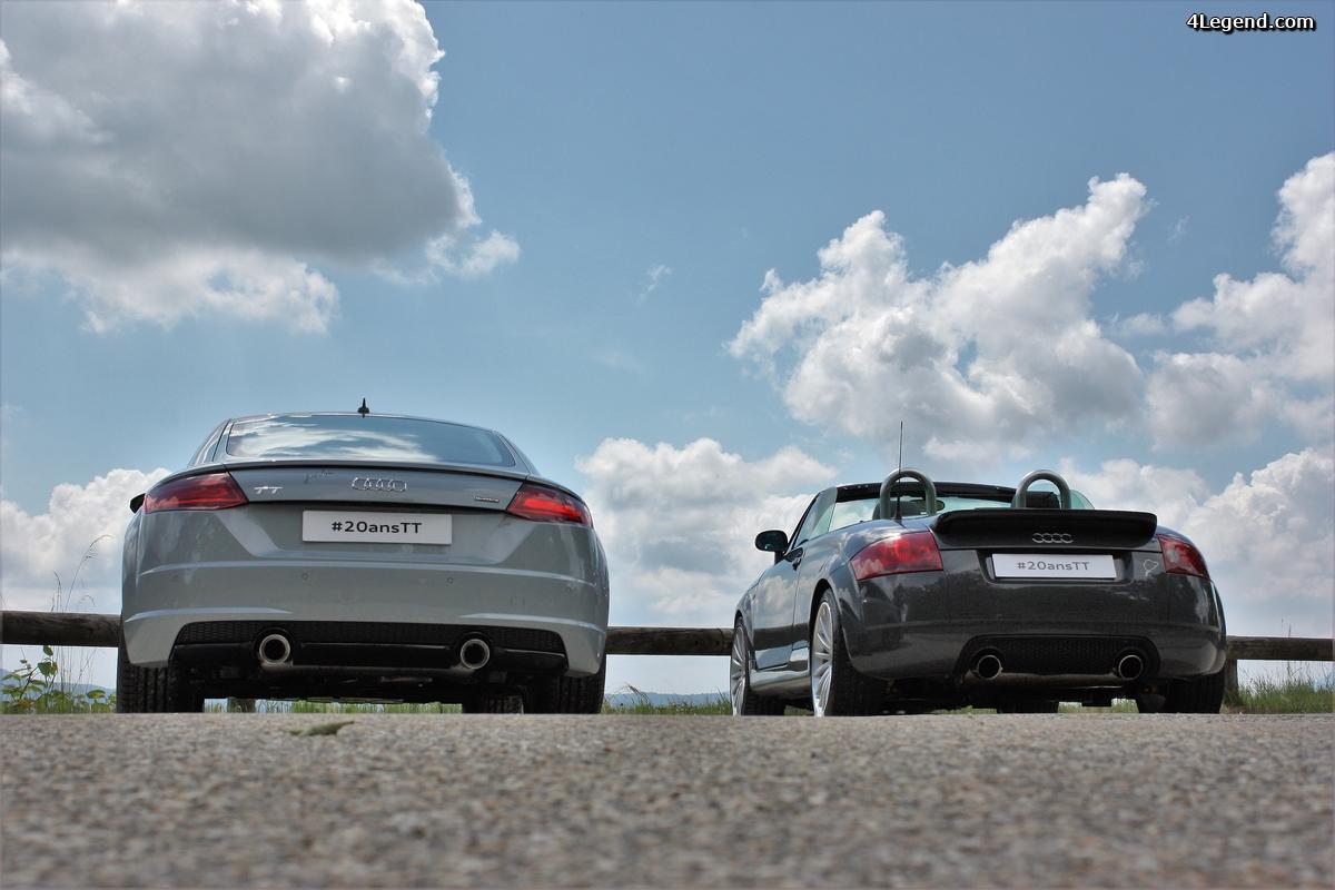 Audi TT 20 years et TT mk1: la grand-mère et la petite dernière