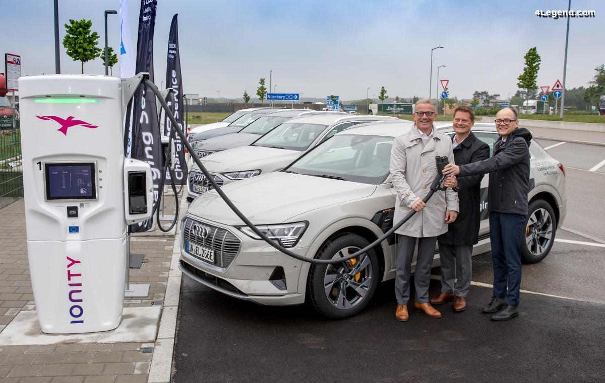 Mise en service des premières stations de recharge haute puissance IONITY avec Audi