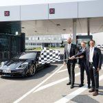 Nouvelle porte Nord du centre de développement Porsche à Weissach