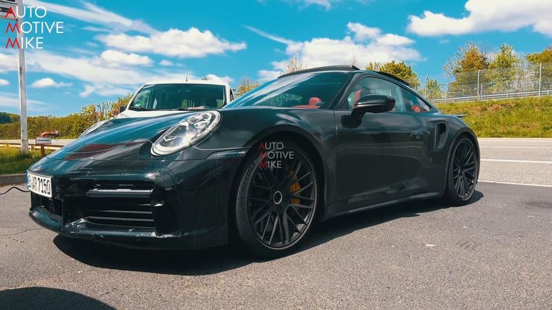 Spyshots Porsche 911 Turbo S type 992