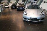 Exposition 10 ans de la Porsche Panamera chez Porsche à Leipzig