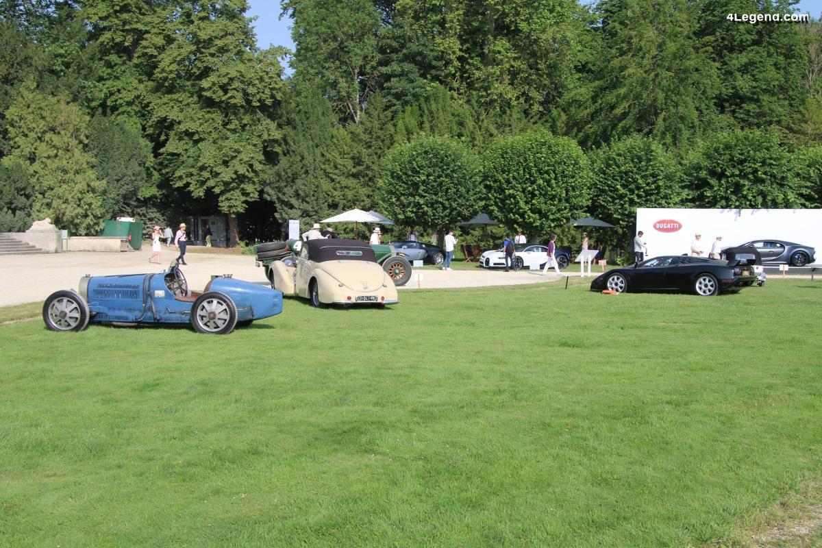 Chantilly 2019 - Superbe exposition de Bugatti pour ses 110 ans