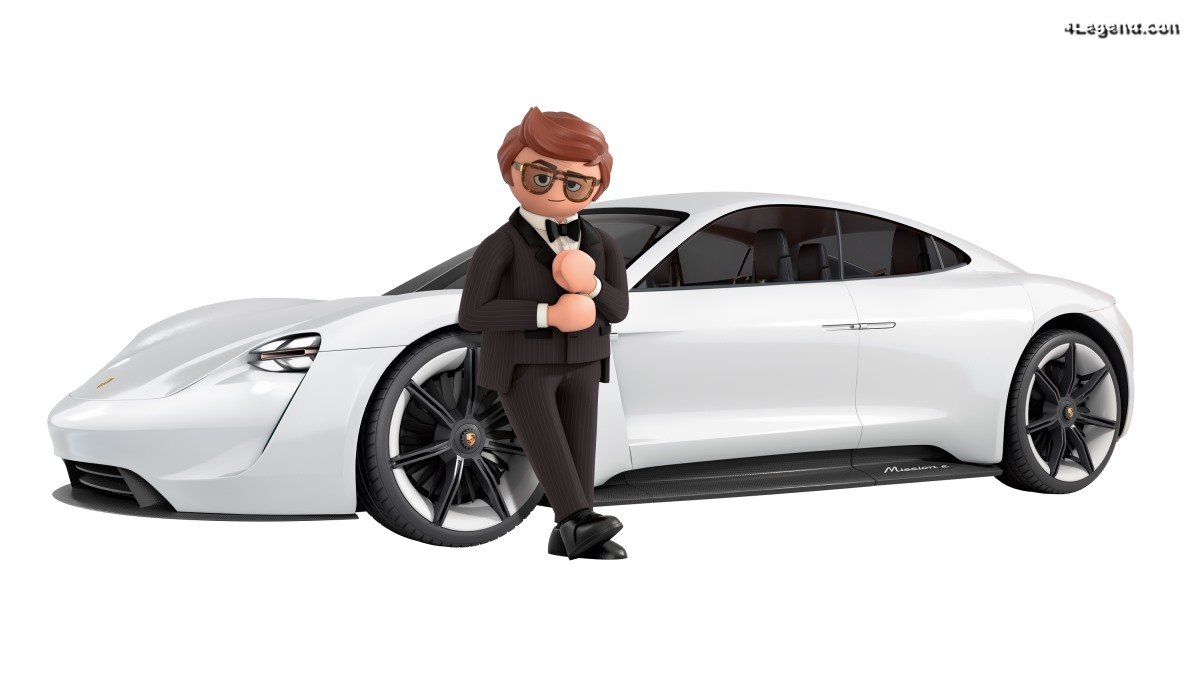 Playmobil : Le film - Rex Dasher au volant de la Porsche Mission E