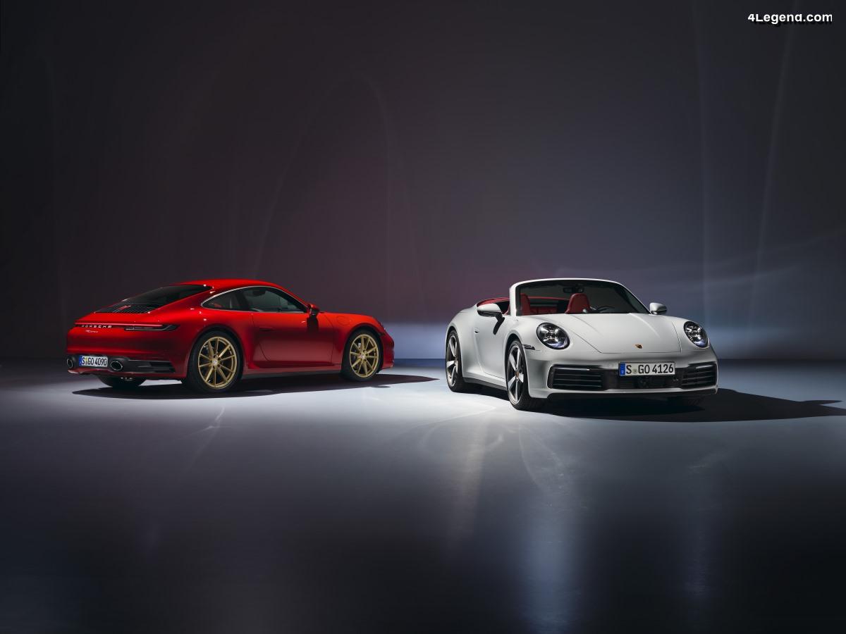 Nouvelles Porsche 911 Carrera Coupé et 911 Carrera Cabriolet