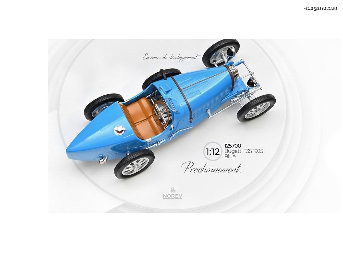 Norev prépare une miniature de la Bugatti Type 35 de 1925 au 1:12