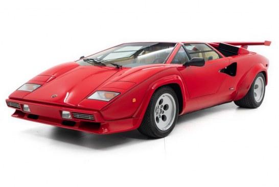 Lamborghini Countach 5000 S de 1984 du pilote Mario Andretti