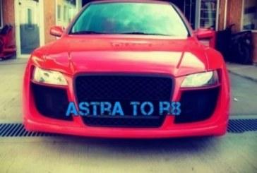 Une Opel Astra se prenant pour une Audi R8