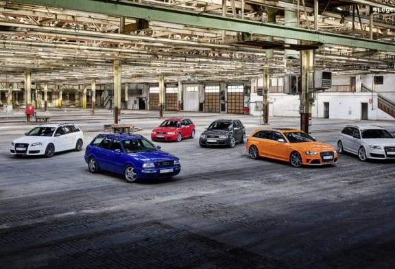 Audi Sport célèbre 25 ans de modèles Audi RS