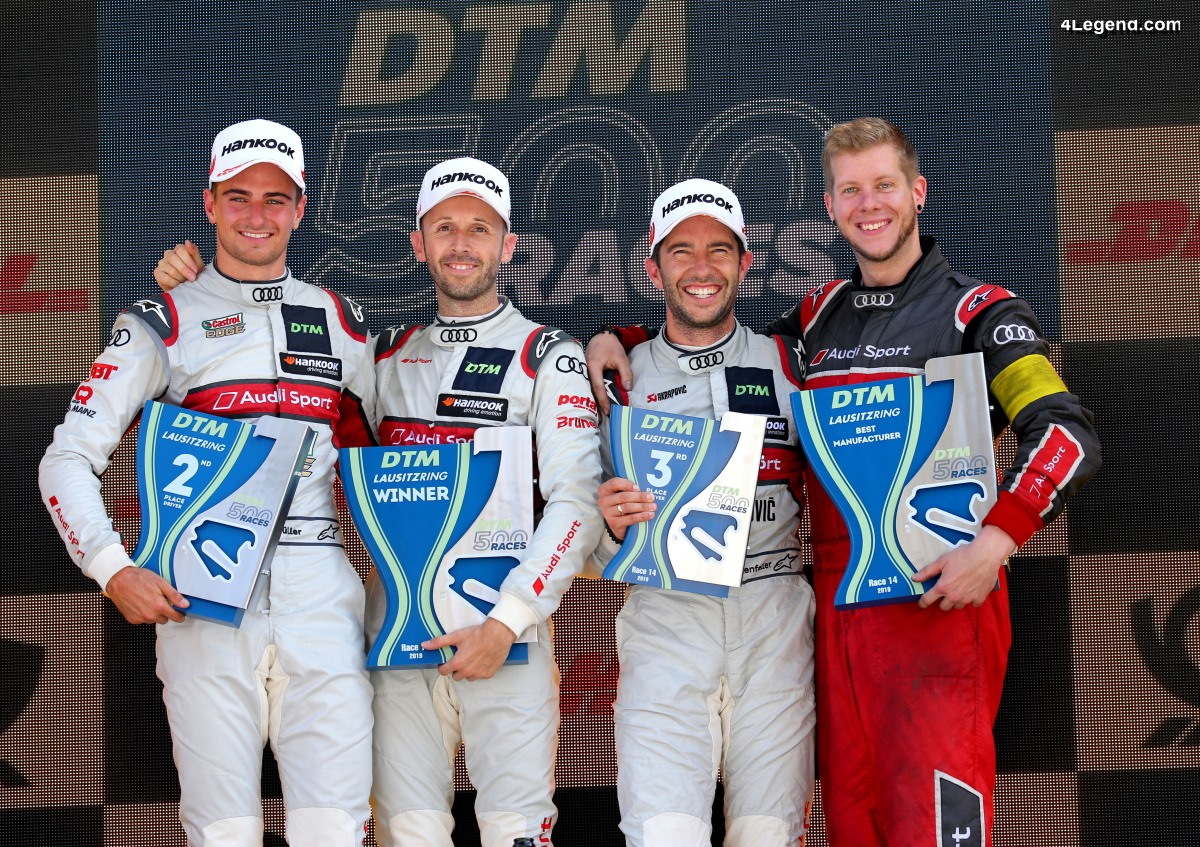 Triomphe d'Audi à la 500ème manche DTM au Lausitzring avec le titre constructeur