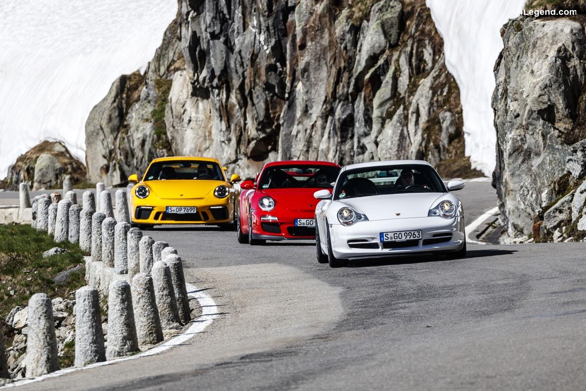 La Porsche 911 GT3 fête ses 20 ans via 6 générations