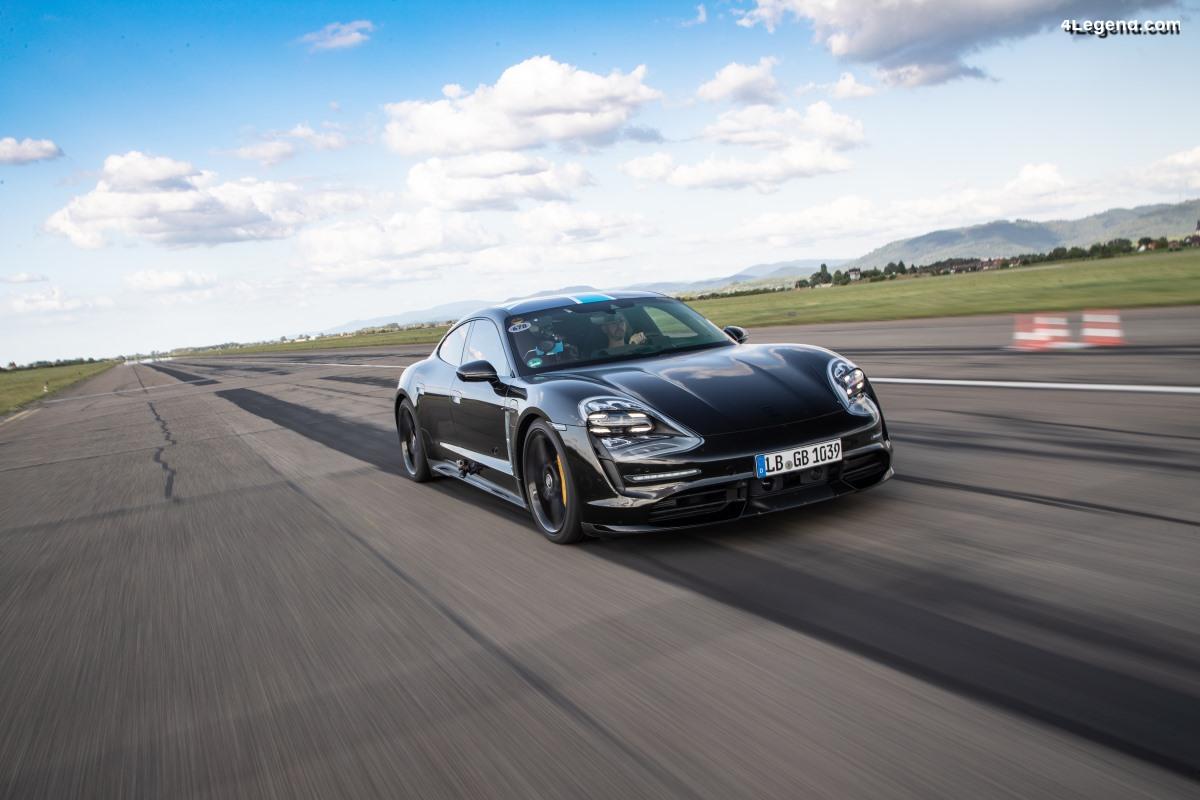 Tests intensifs du Porsche Taycan sur piste - 26 accélérations de suite de 0 à 200 km/h