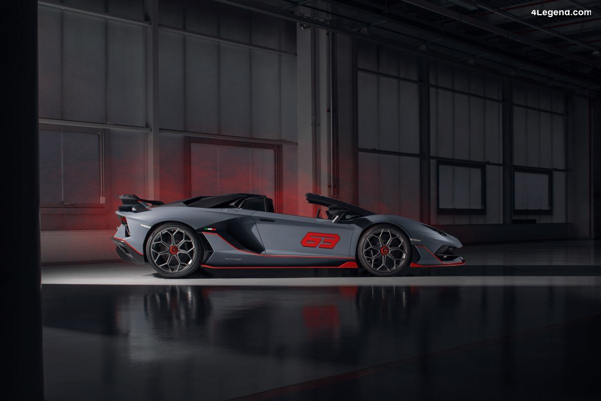 Lamborghini Aventador SVJ 63 Roadster - Limitée à 63 exemplaires