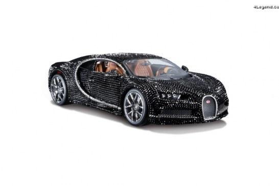 Miniature Bburago au 1:18 – Bugatti Chiron Crystal par Swarovski