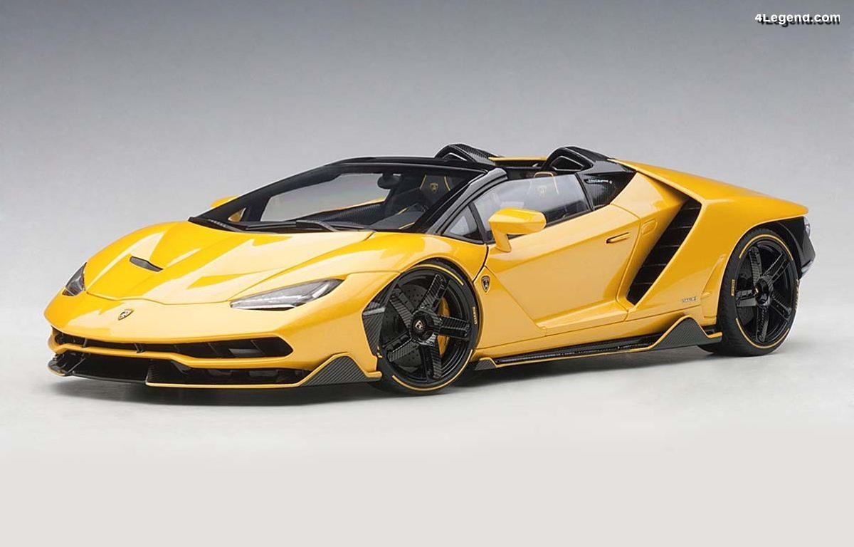 Miniatures 1:18 AUTOart - Lamborghini Centenario Roadster