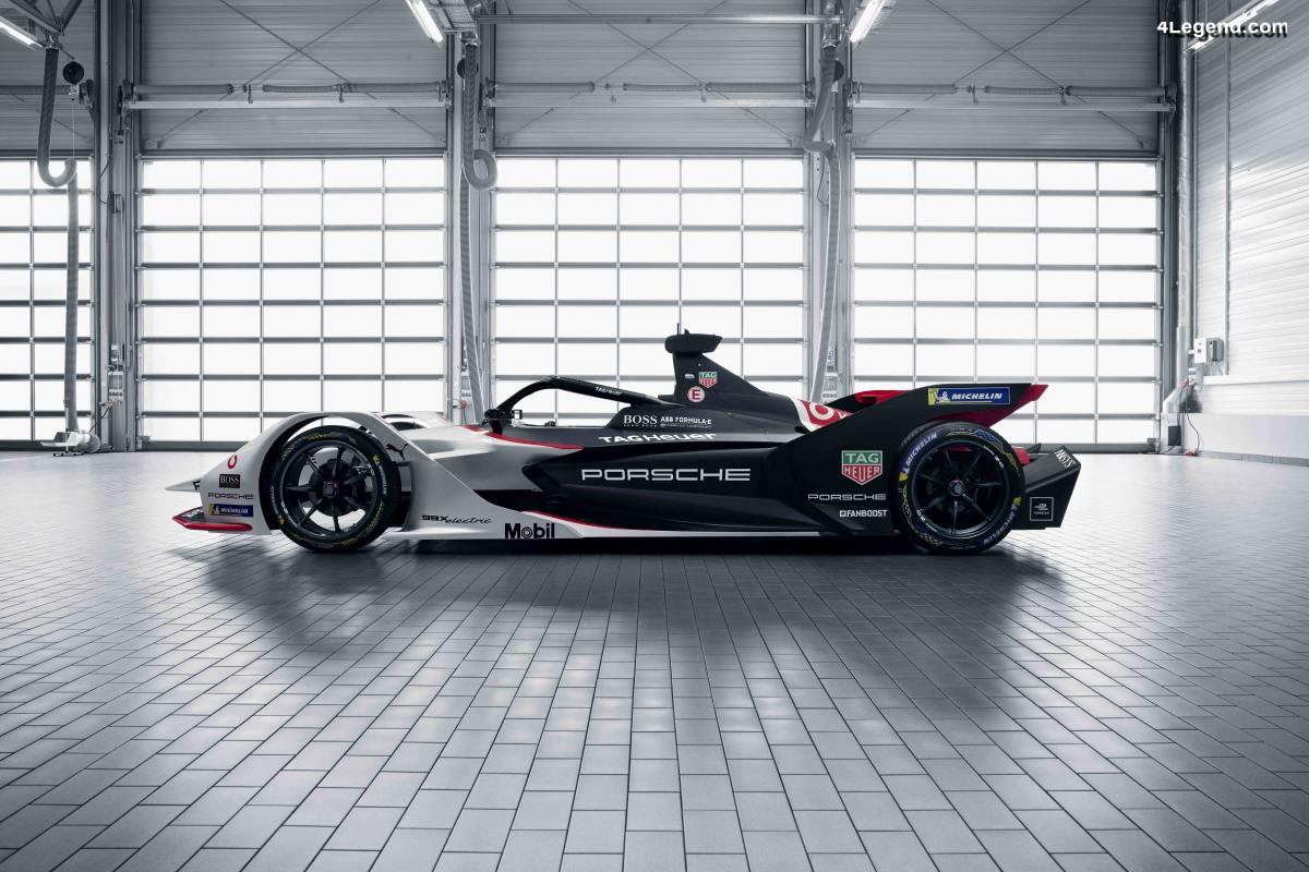 Porsche 99X Electric - La première voiture de course électrique pour la Formule E
