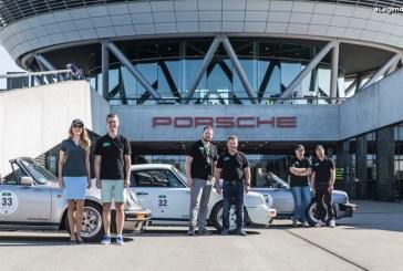 Passage du rallye automobile «Sachsen Classic» chez Porsche à Leipzig