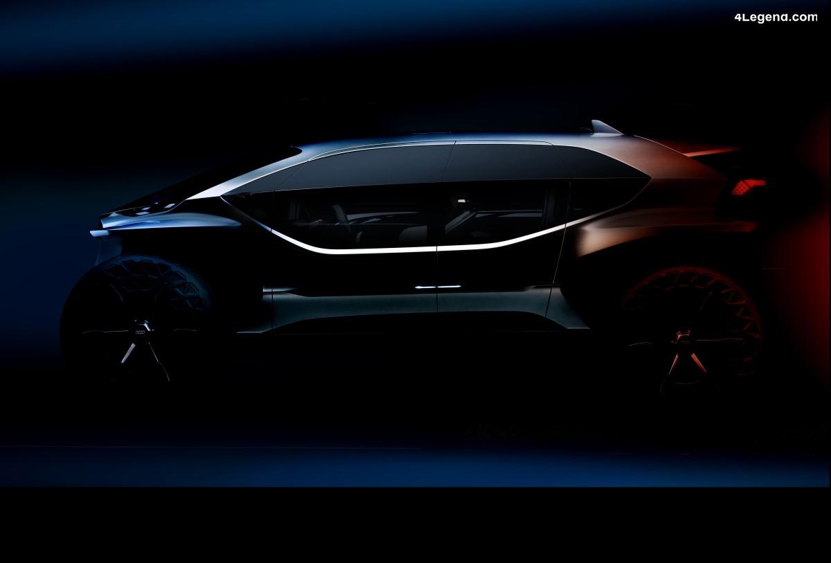 Teaser Audi AI:TRAIL quattro - Levé de voile à l'IAA 2019
