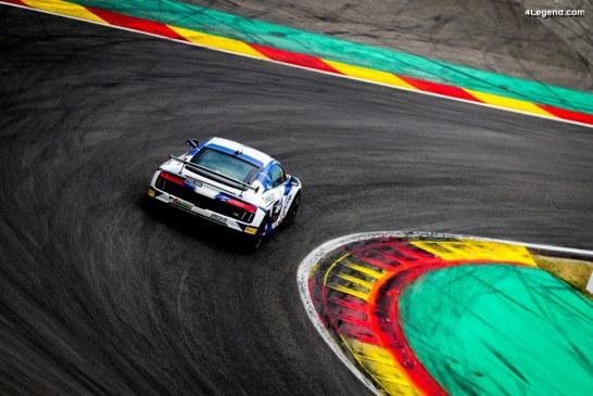 Très belle victoire de l'Audi R8 LMS GT4 en série GT4 France à Spa