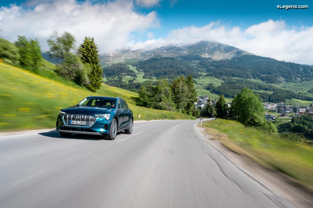 Traversée de 10 pays en 24 heures avec l'Audi e-tron