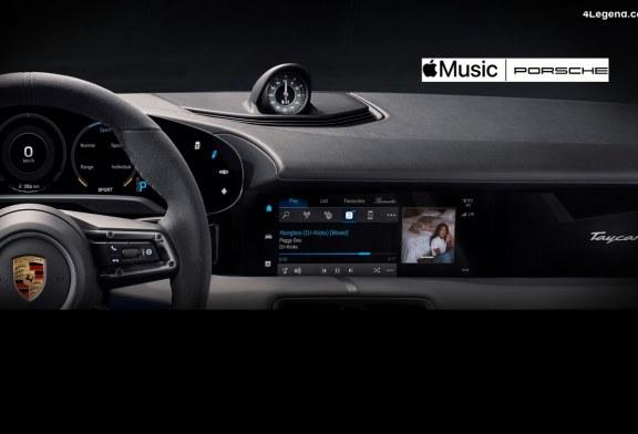 Porsche intègre Apple Music dans son Taycan