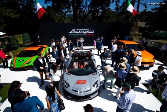 Mise en avant des modèles Lamborghini à la Monterey Car Week 2019