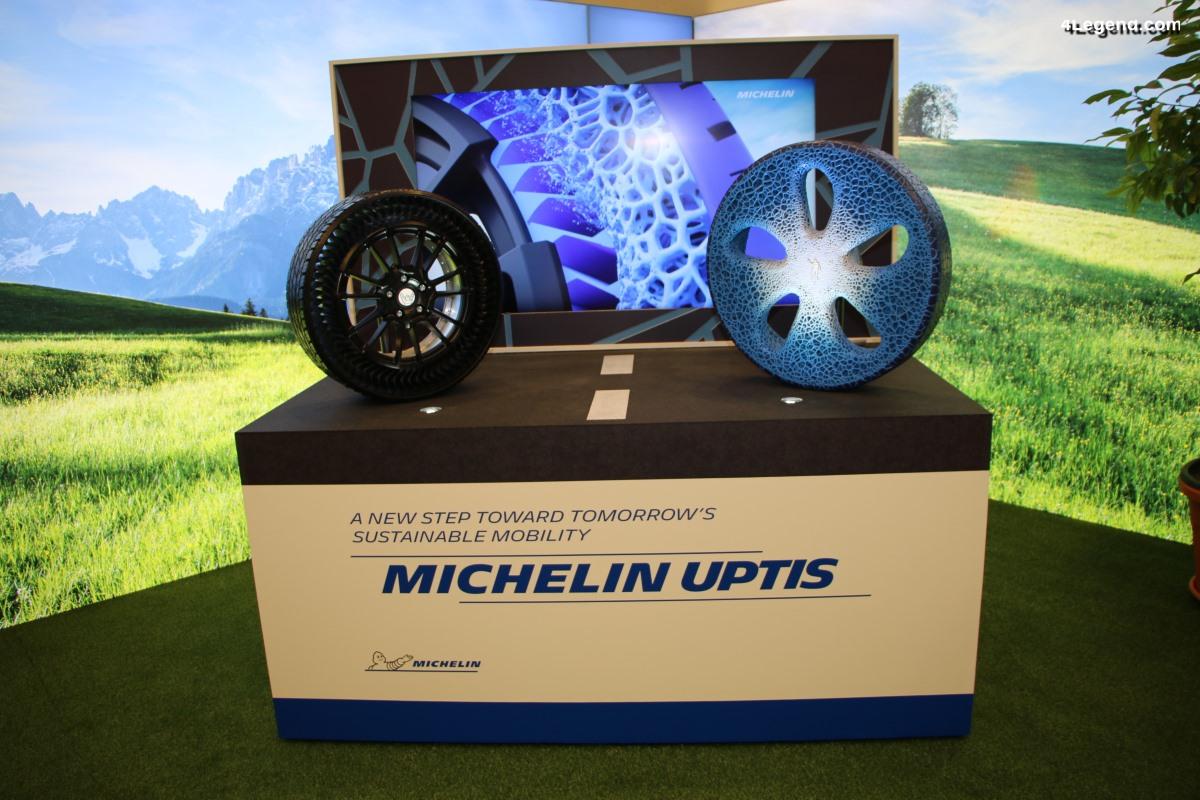IAA 2019 - Michelin Uptis : un système de pneu sans air et increvable