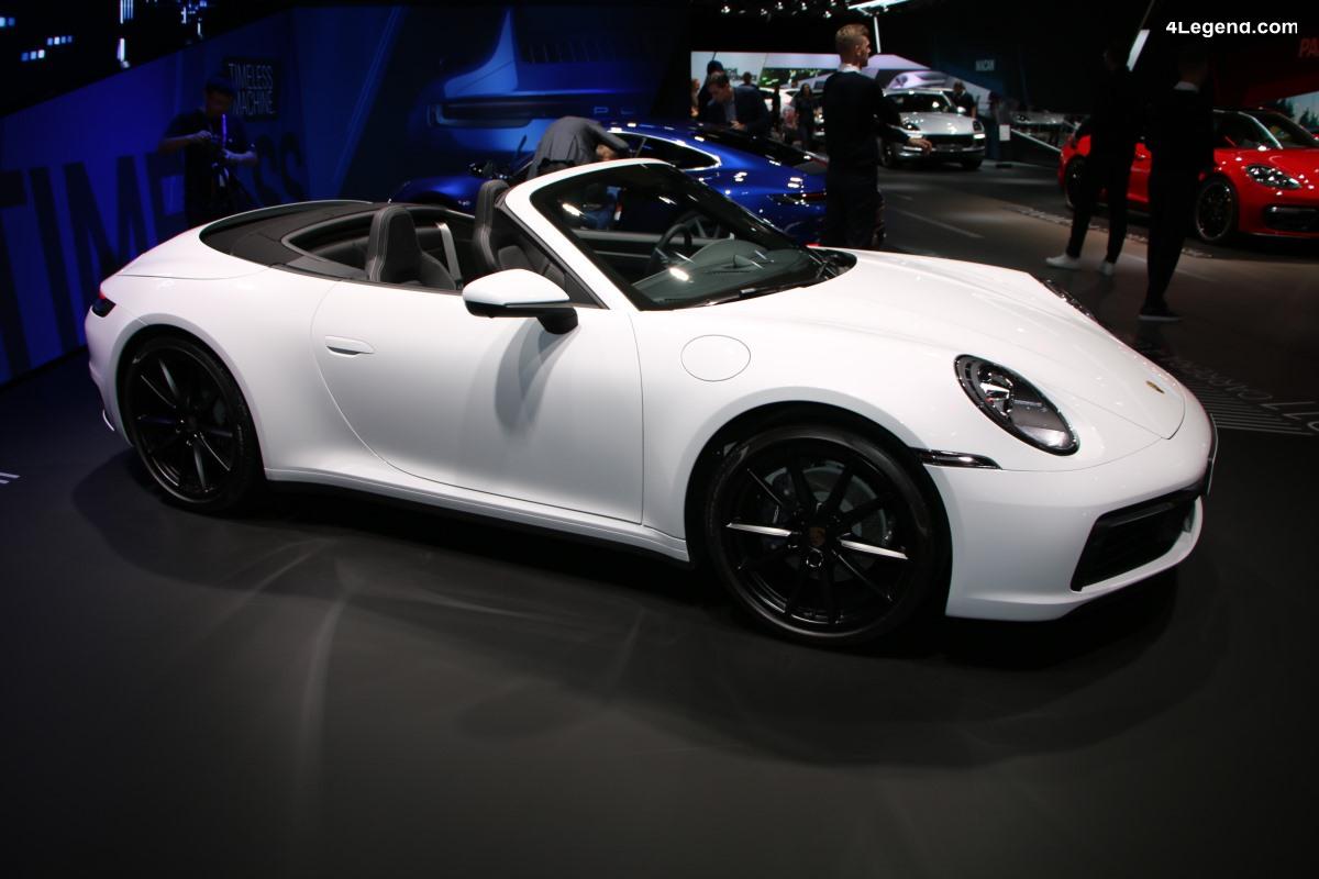 IAA 2019 - Nouvelles Porsche 911 Carrera 4 Coupé et 911 Carrera 4 Cabriolet