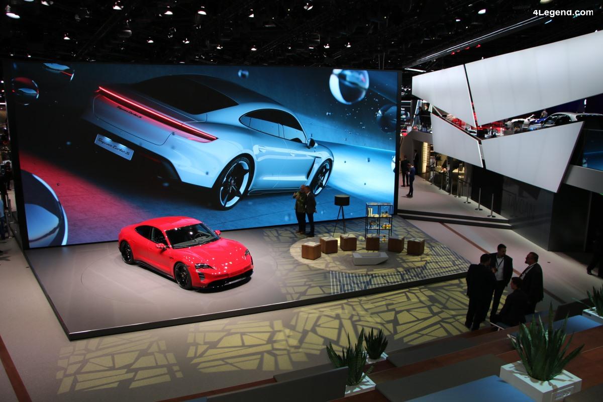 IAA 2019 - Visite en avant première du stand Porsche - Modèles Taycan et gamme actuelle