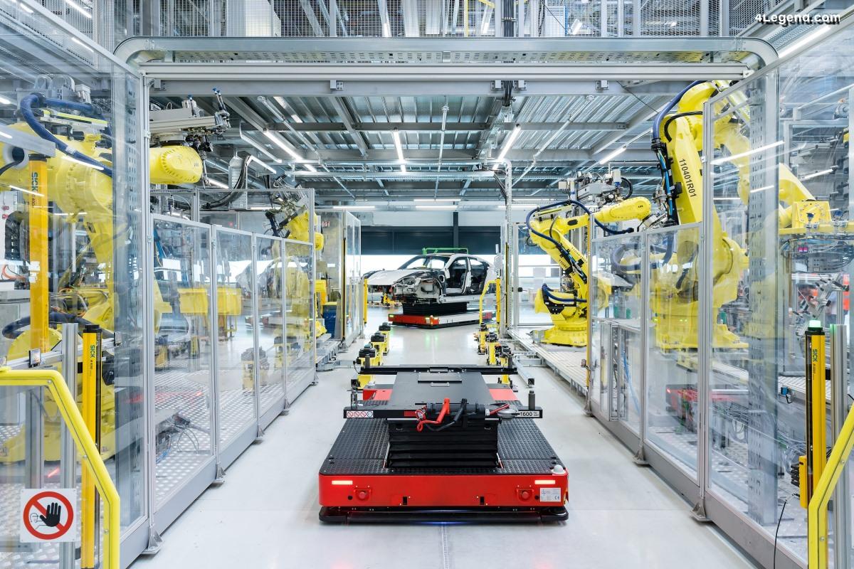 Démarrage ponctuel de la production du Porsche Taycan