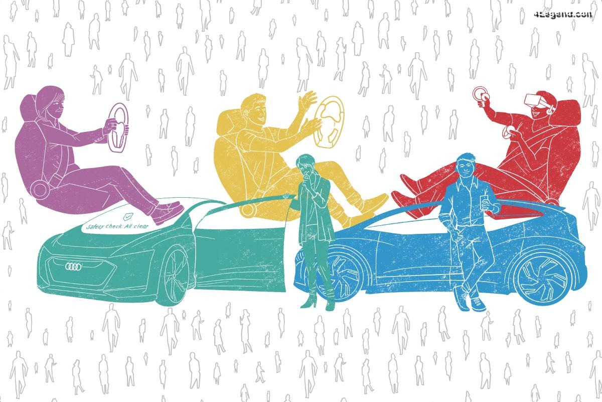 Typologie des utilisateurs et paysage émotionnel de la conduite autonome vus par Audi