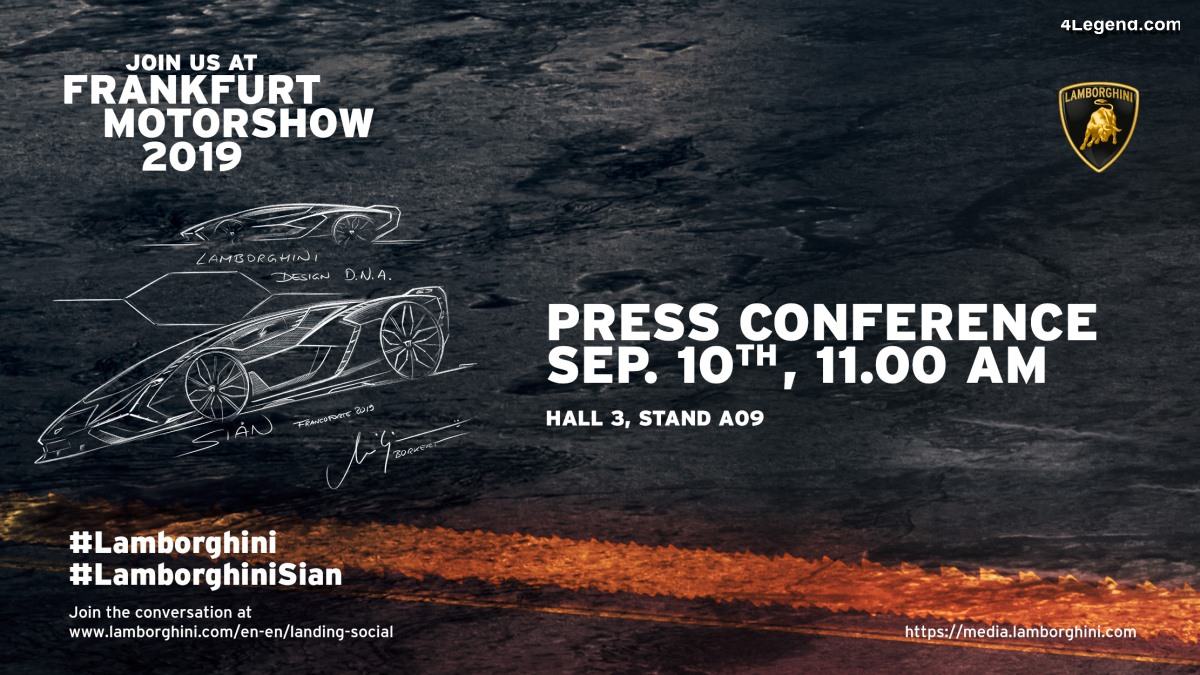 IAA 2019 - Live conférence de presse Lamborghini à 11h00 le 10/09/19